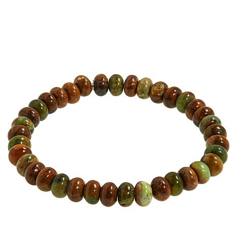 Jay King Green Chrome Opal Bead Stretch Bracelet