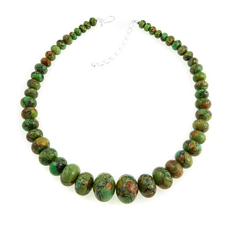 "Jay King Green Kingman Turquoise Bead 20"" Necklace"