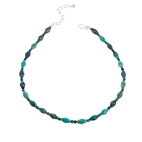 Jay King Hubei Turquoise Freeform and Round Bead Necklace