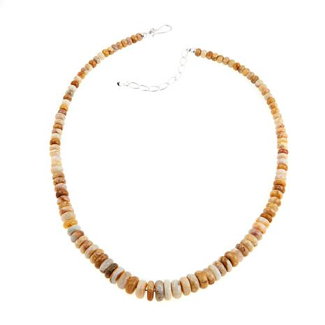 """Jay King Java Lace Agate Bead Graduated 20"""" Necklace"""