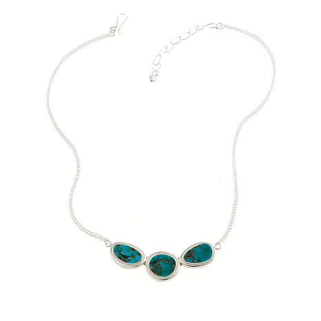 "Jay King Kingman Turquoise 18-14"" Chain Necklace"