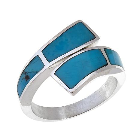Jay King Kingman Turquoise Inlay Bypass Ring