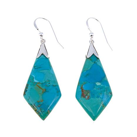 Jay King Kite-Shaped Turquoise Drop Earrings