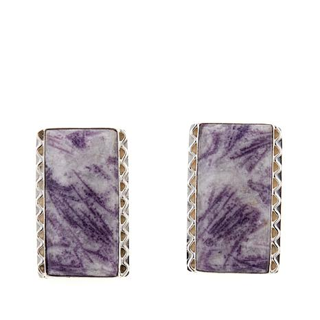 Jay King Mongolian Fluorite Sterling Silver Earrings