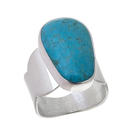 Jay King Mongolian Mist Turquoise Scallop Band Ring