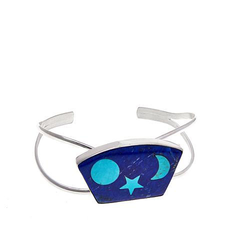 "Jay King ""Moon & Stars"" Turquoise and Lapis Cuff"