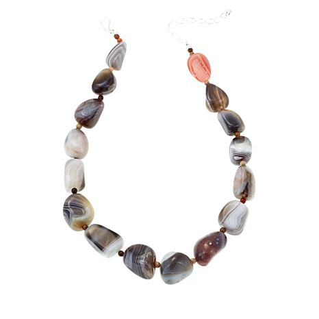 Jay King Multicolor Agate and Petrified Wood Necklace