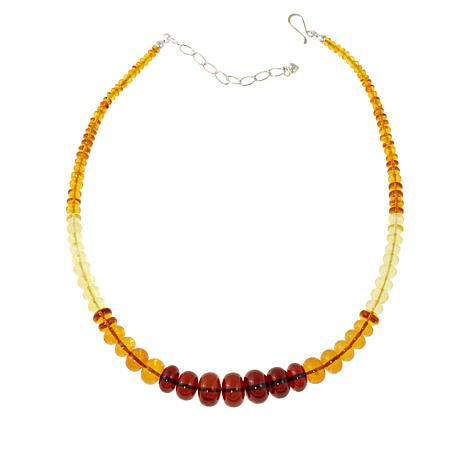 "Jay King Multicolor Amber Bead 18"" Necklace"