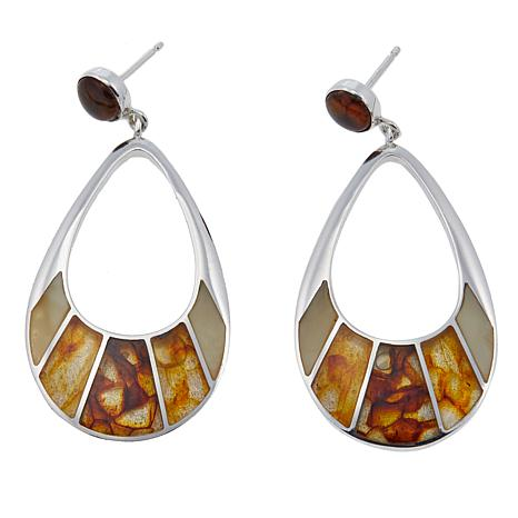 Jay King Multicolor Amber Sterling Silver Teardrop Earrings