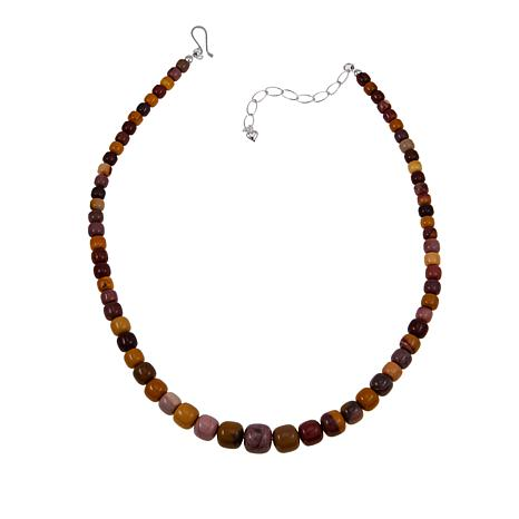 """Jay King Multicolor Mookaite Bead 18"""" Sterling Silver Necklace"""
