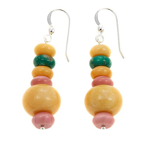 Jay King Multicolor Multigemstone Drop Earrings