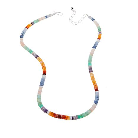 """Jay King Multicolor Opal Sterling Silver 20"""" Necklace"""