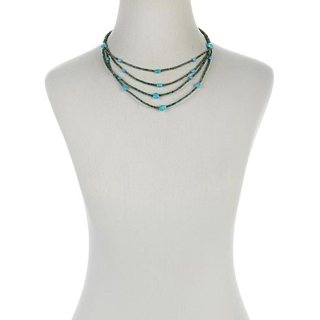 """Jay King Multicolor Turquoise Bead 18"""" Necklace"""
