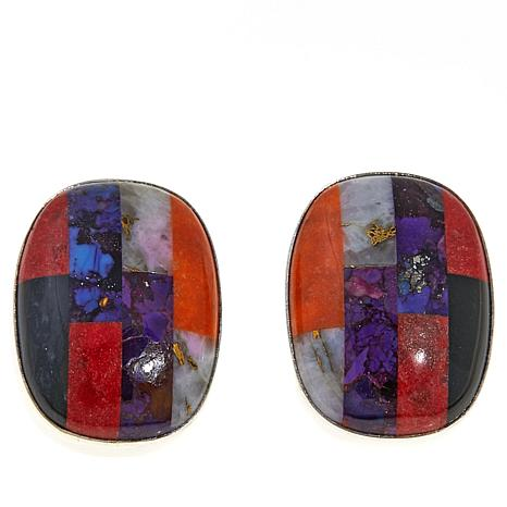 Jay King Multicolored Multigemstone Inlay Earrings