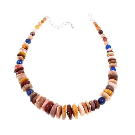 "Jay King Multicolored Mutligemstone 18-1/4"" Sterling Silver Necklace"