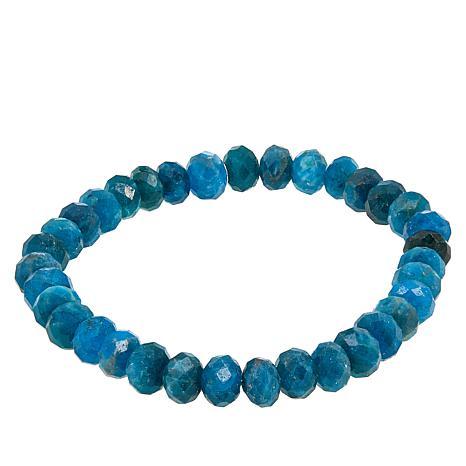 Jay King Neon Blue Apatite Beaded Stretch Bracelet