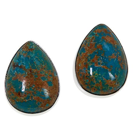 Jay King New Red Skin Turquoise Pear-Shaped Stud Earrings