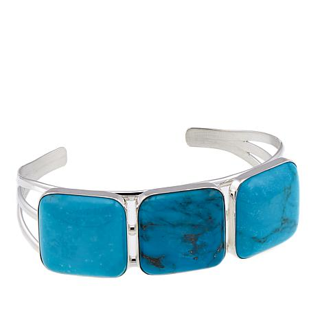 Jay King New Red Skin Turquoise Sterling Silver Cuff Bracelet