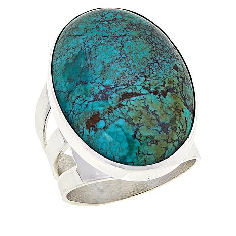 Jay King Oval Hubei Turquoise Sterling Silver Ring