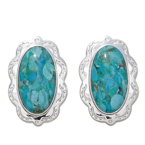Jay King Oval Turquoise Sterling Silver Earrings