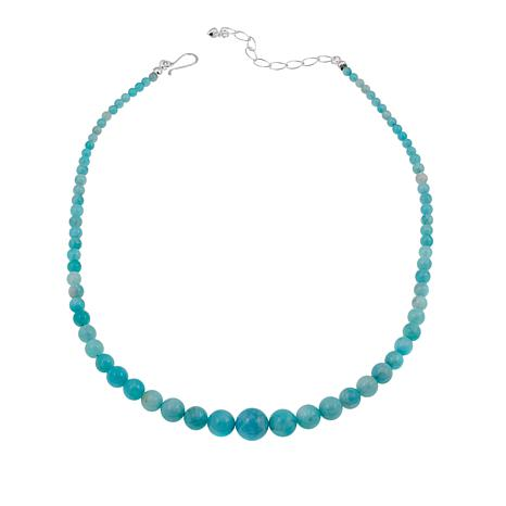 "Jay King Peruvian Amazonite Bead 18"" Sterling Silver Necklace"