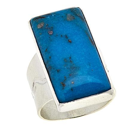 Jay King Rectangular Nako Turquoise Sterling Silver Ring