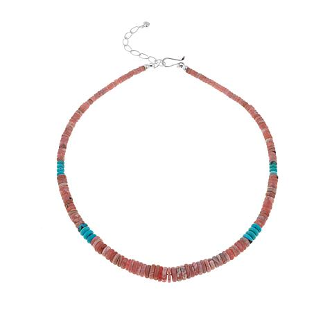 "Jay King Rhodochrosite and Turquoise Bead 18"" Necklace"