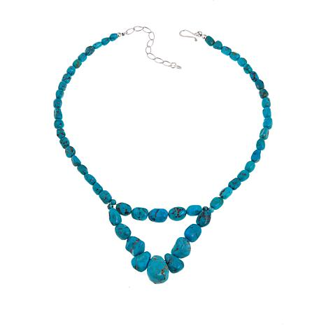 """Jay King Seven Peaks Turquoise 18"""" Necklace"""