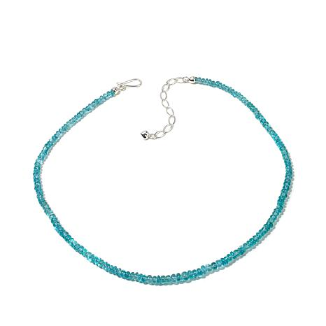 Jay King Sky Blue Apatite Rondelle Bead Necklace