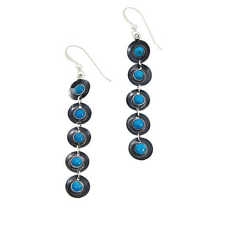 Jay King  Sleeping Beauty Turquoise Dangle Earrings