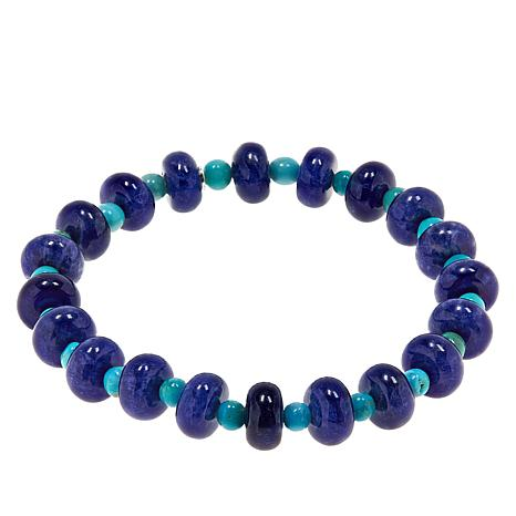 Jay King Sodalite and Andean Turquoise Stretch Bracelet