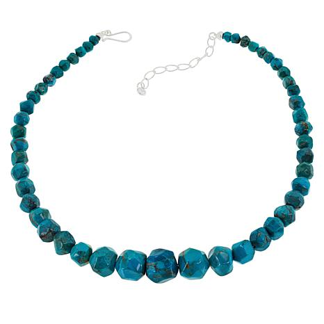Jay King Spider Web Turquoise Graduated Bead Necklace