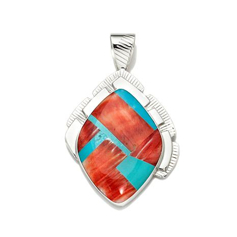 Jay King Spiny Oyster Shell & Turquoise Doublet Pendant