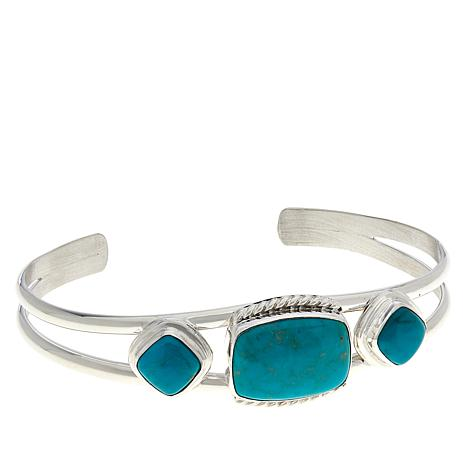 Jay King Sterling Silver Angel Peak Turquoise Cuff