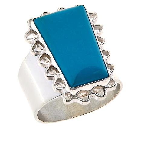 Jay King Sterling Silver Azure Peaks Turquoise Ring