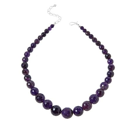 Jay King Sterling Silver Bold Amethyst Graduated Bead Necklace