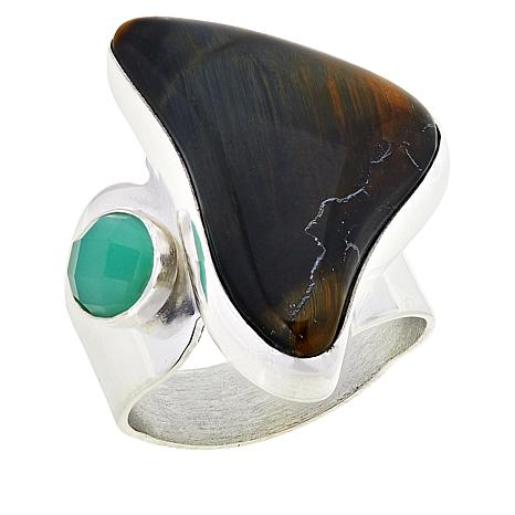 Jay King Sterling Silver Brockman Jasper and Chrysoprase Ring