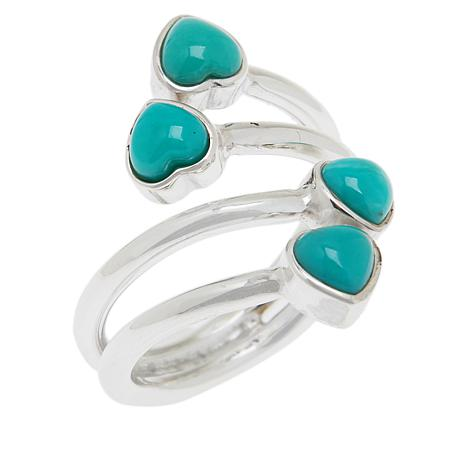Jay King Sterling Silver Campitos Turquoise Bypass Ring