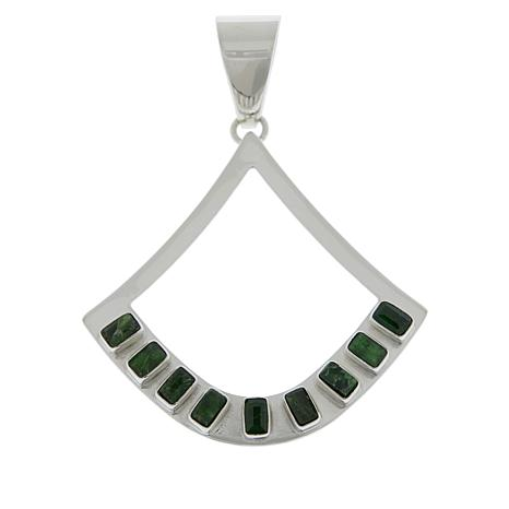Jay King Sterling Silver Chrome Diopside Open Drop Pendant