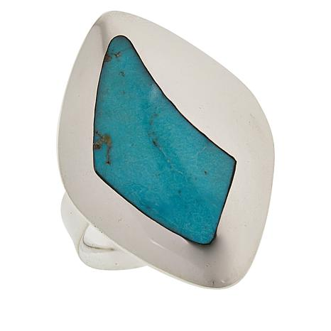 Jay King Sterling Silver Cloudy Mountain Turquoise Abstract Ring