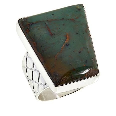 Jay King Sterling Silver Colorful Forest Jasper Ring