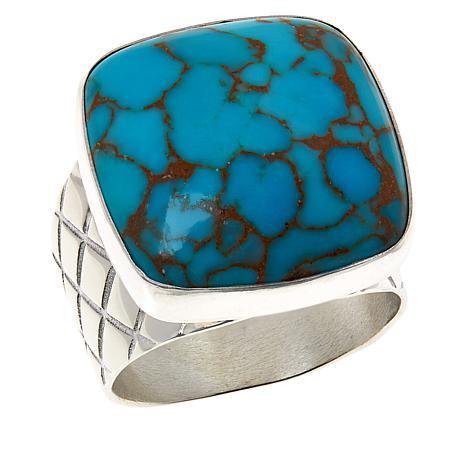 Jay King Sterling Silver Cushion-Cut Gemstone Ring