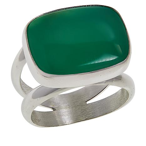 Jay King Sterling Silver Green Chrysoprase Ring