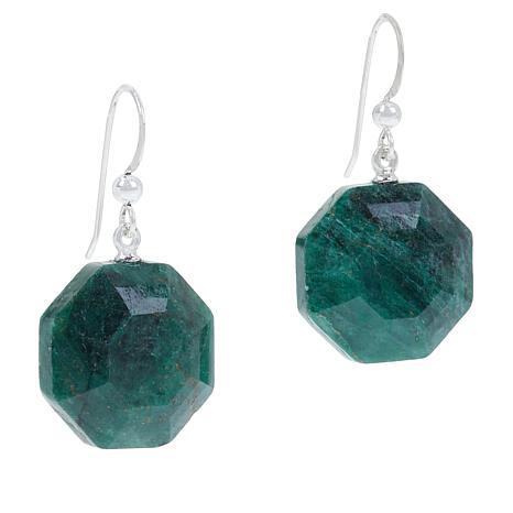 Jay King Sterling Silver Green Quartz Drop Earrings