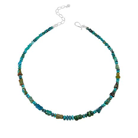 Jay King Sterling Silver Hubei Turquoise Beaded Necklace