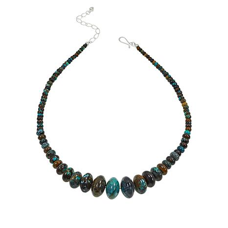 Jay King Sterling Silver Hubei Turquoise Graduated Bead Necklace