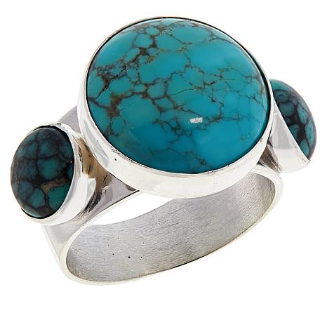Jay King Sterling Silver Hubei Turquoise Ring