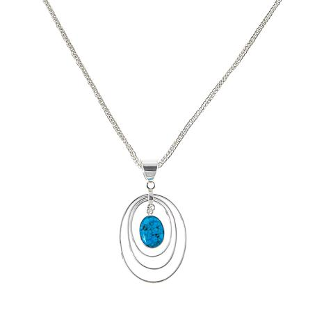 Jay King Sterling Silver Kingman Turquoise Pendant with Chain