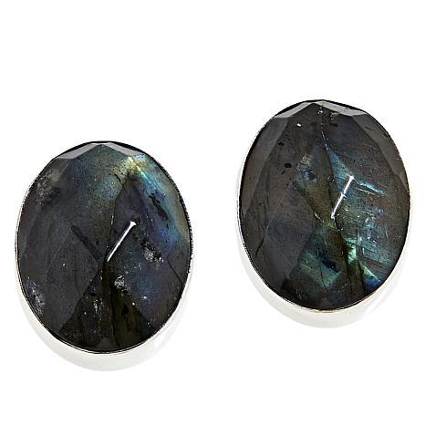 Jay King Sterling Silver Labradorite Oval Stud Earrings