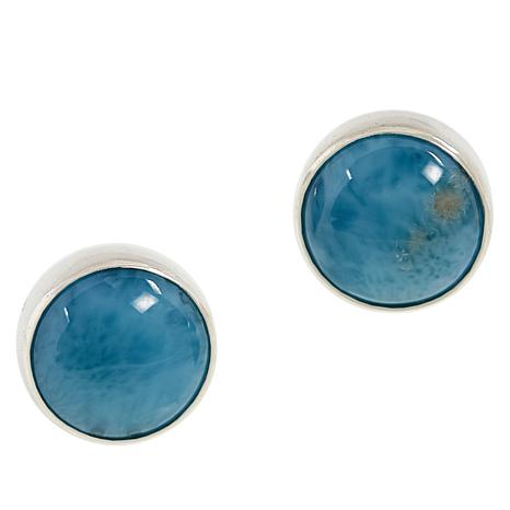 Jay King  Sterling Silver Larimar Stud Earrings